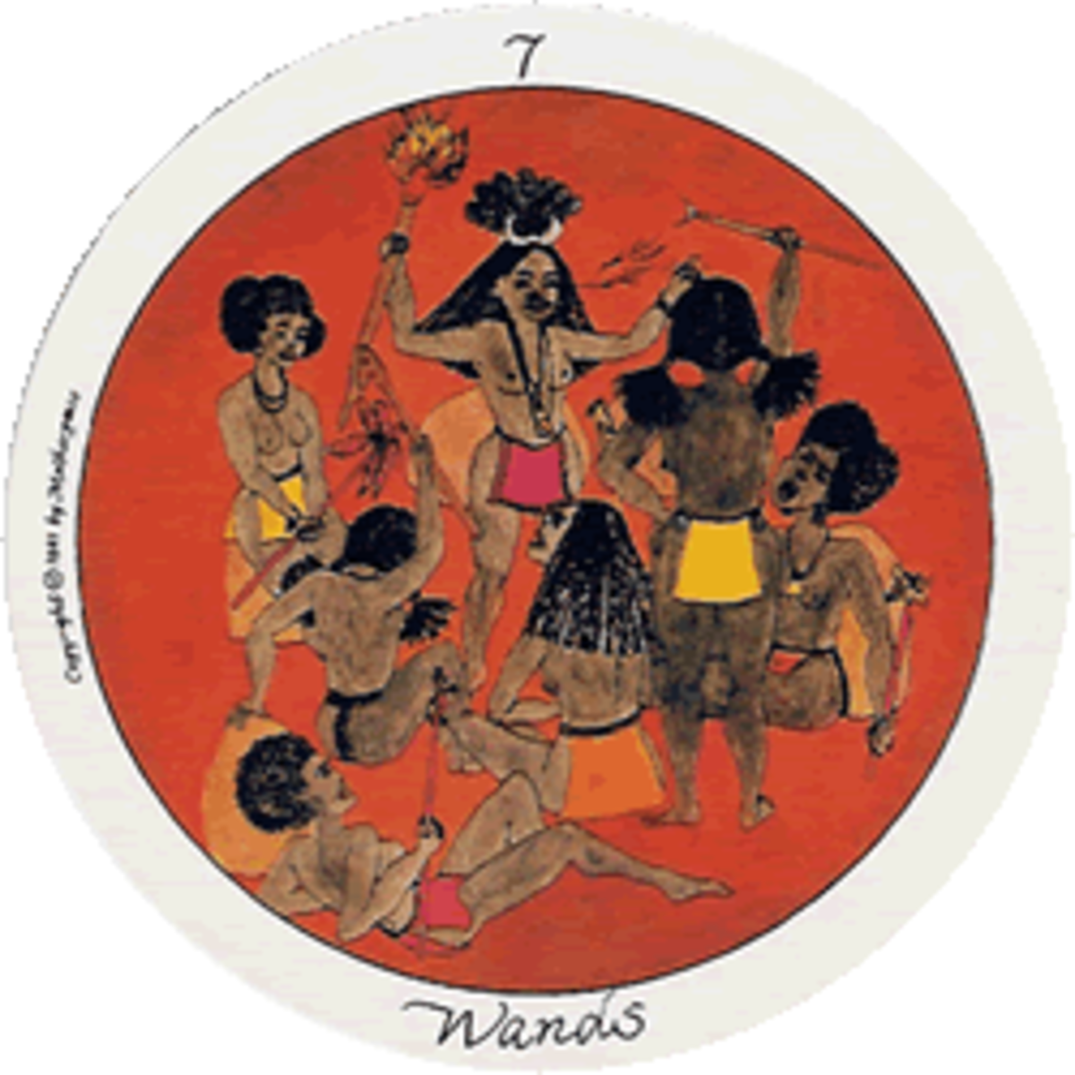 Motherpeace Round Tarot Cards Suit of Wands   Exemplore