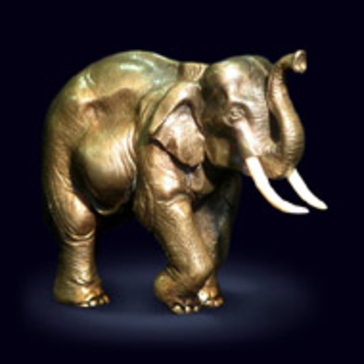 Gold elephant will bring wealth to your threshold