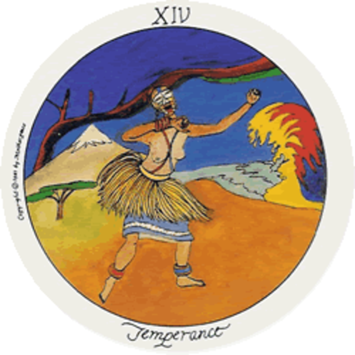 The Temperance card is a time of trying to find balance in life.
