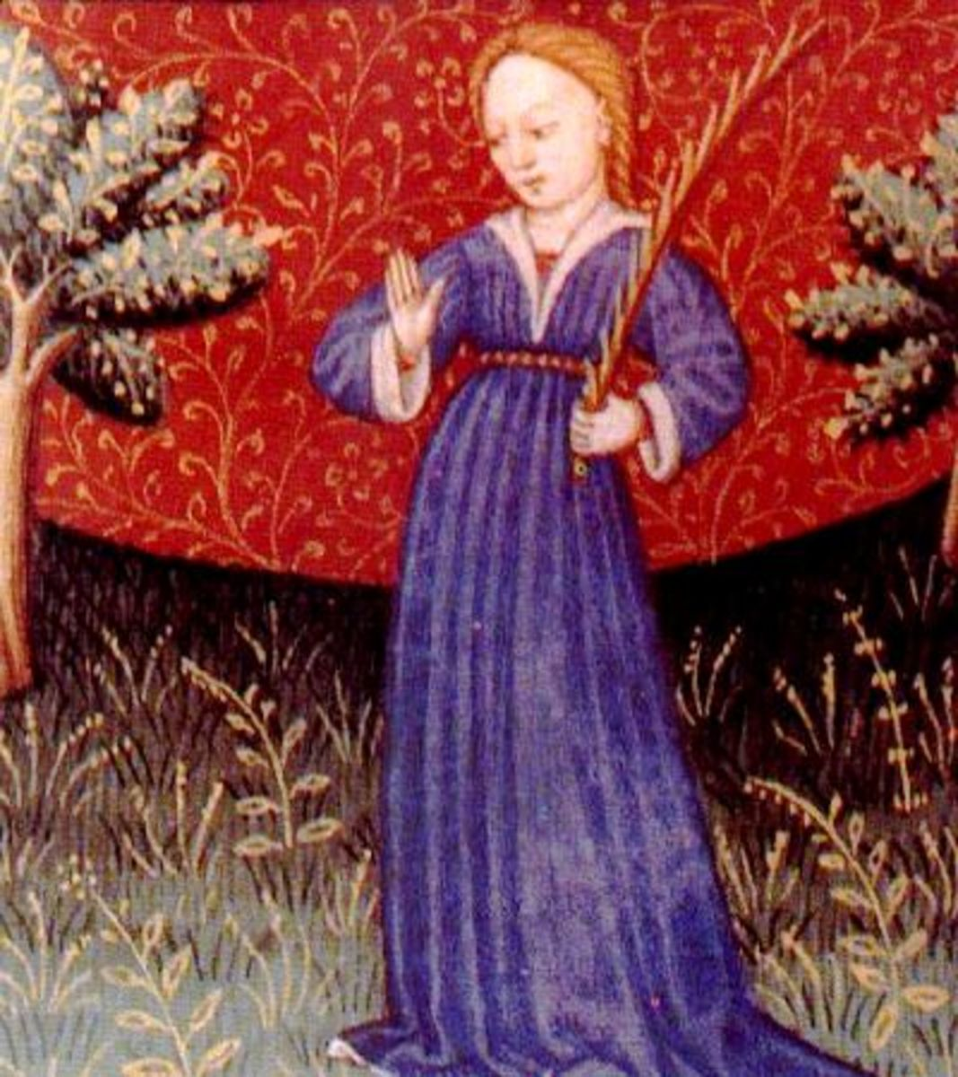 15th century medieval depiction of a Virgo.  Artist unknown.