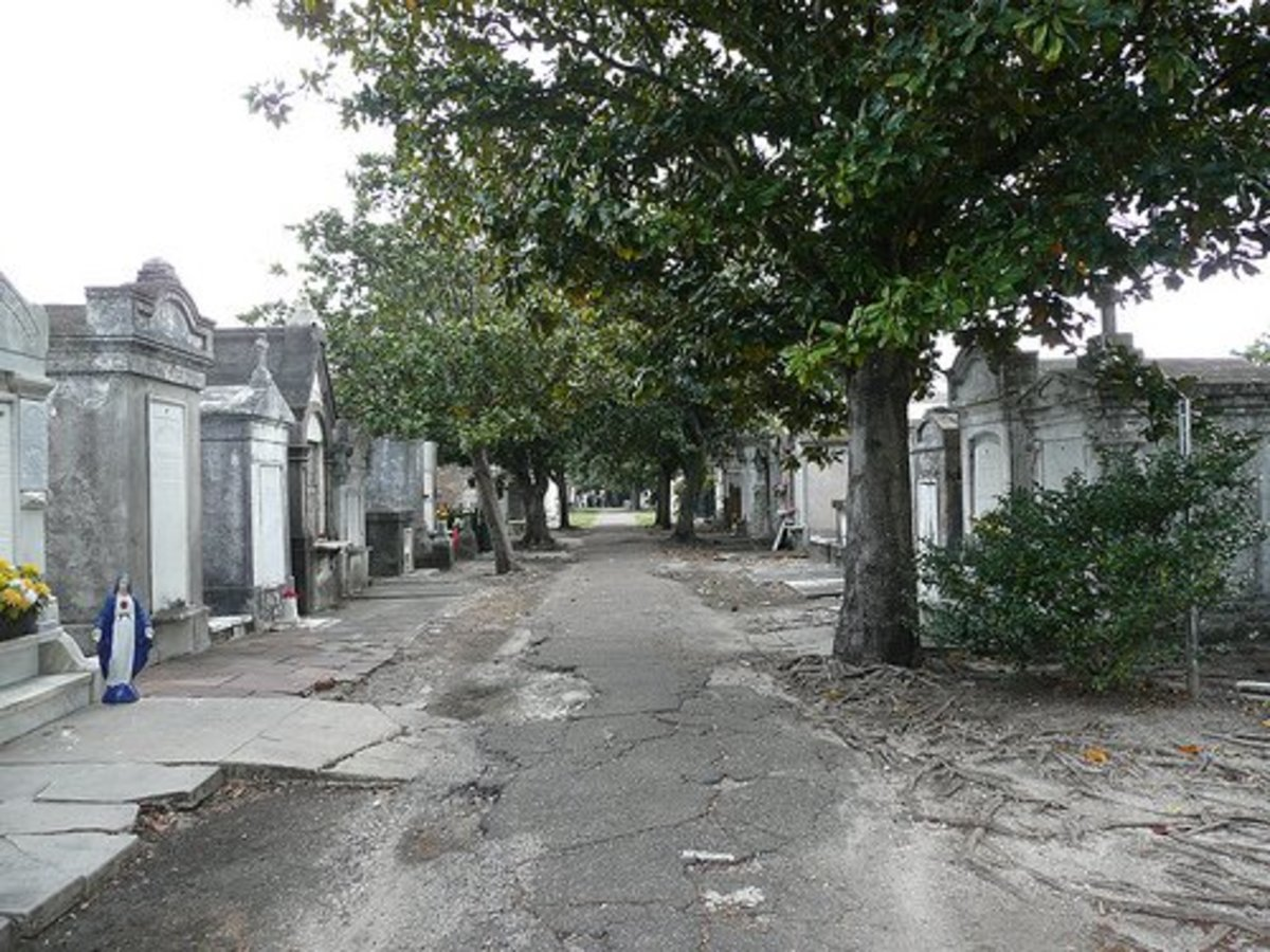 A New Orleans Cemetery - Possible Home to a Vampire?