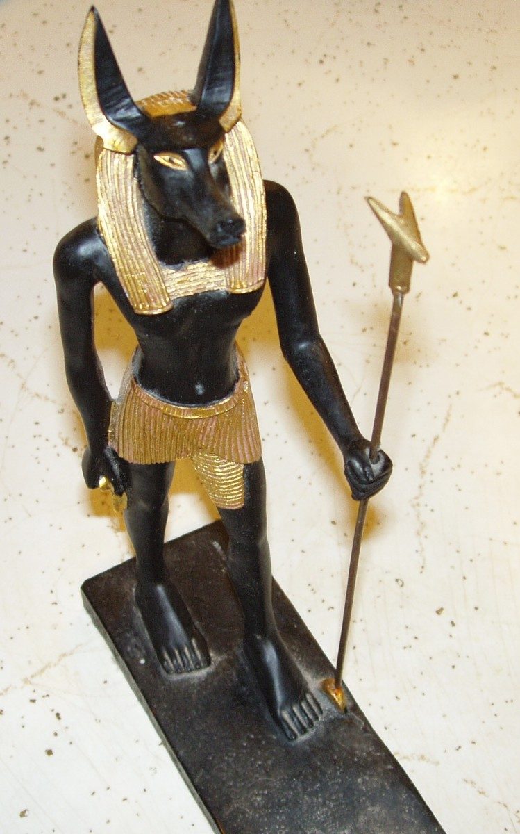 My anthropomorphic statue of Anubis.