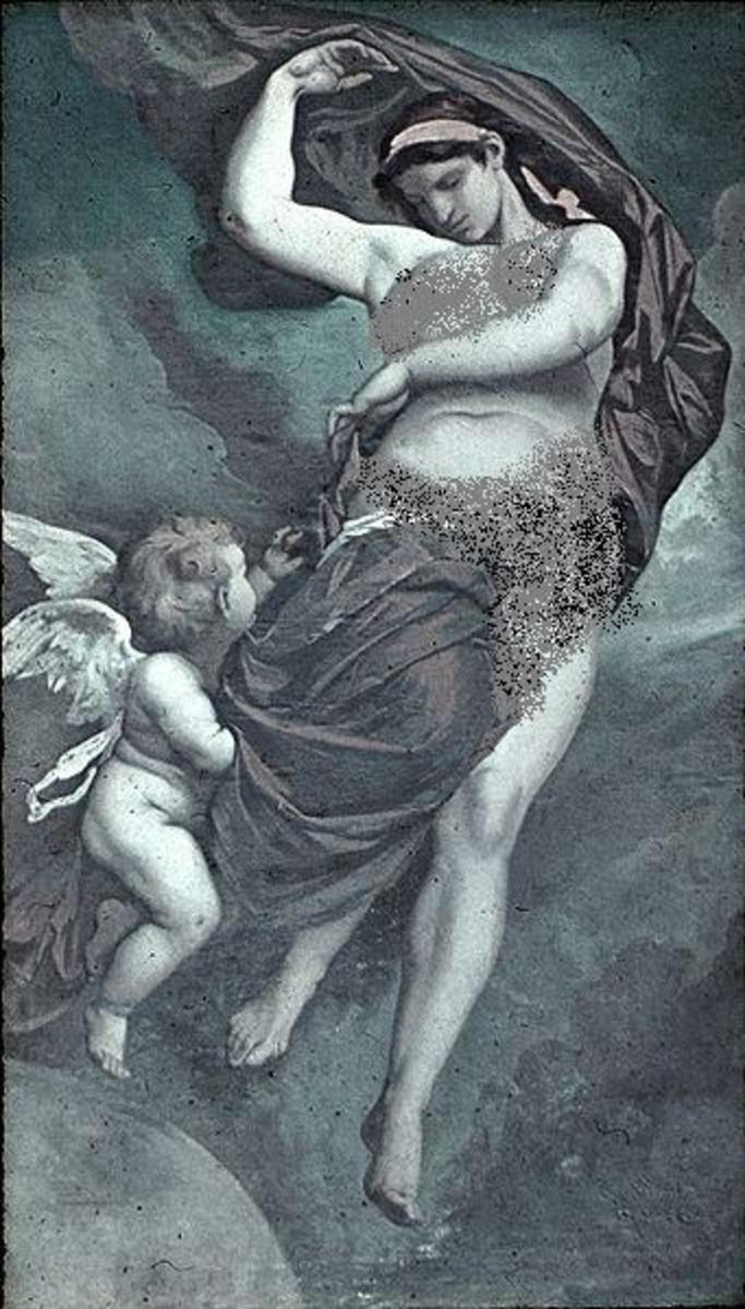 Gaia - ceiling painting by Anselm Feuerbach, 1875