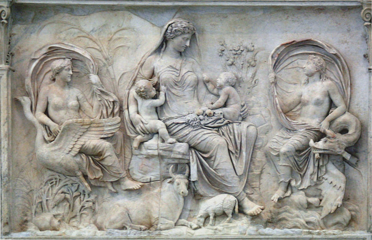 Terra Mater, Italian relief panel of the Ara Pacis, an altar in Rome dedicated to Pax, the Roman goddess of Peace.