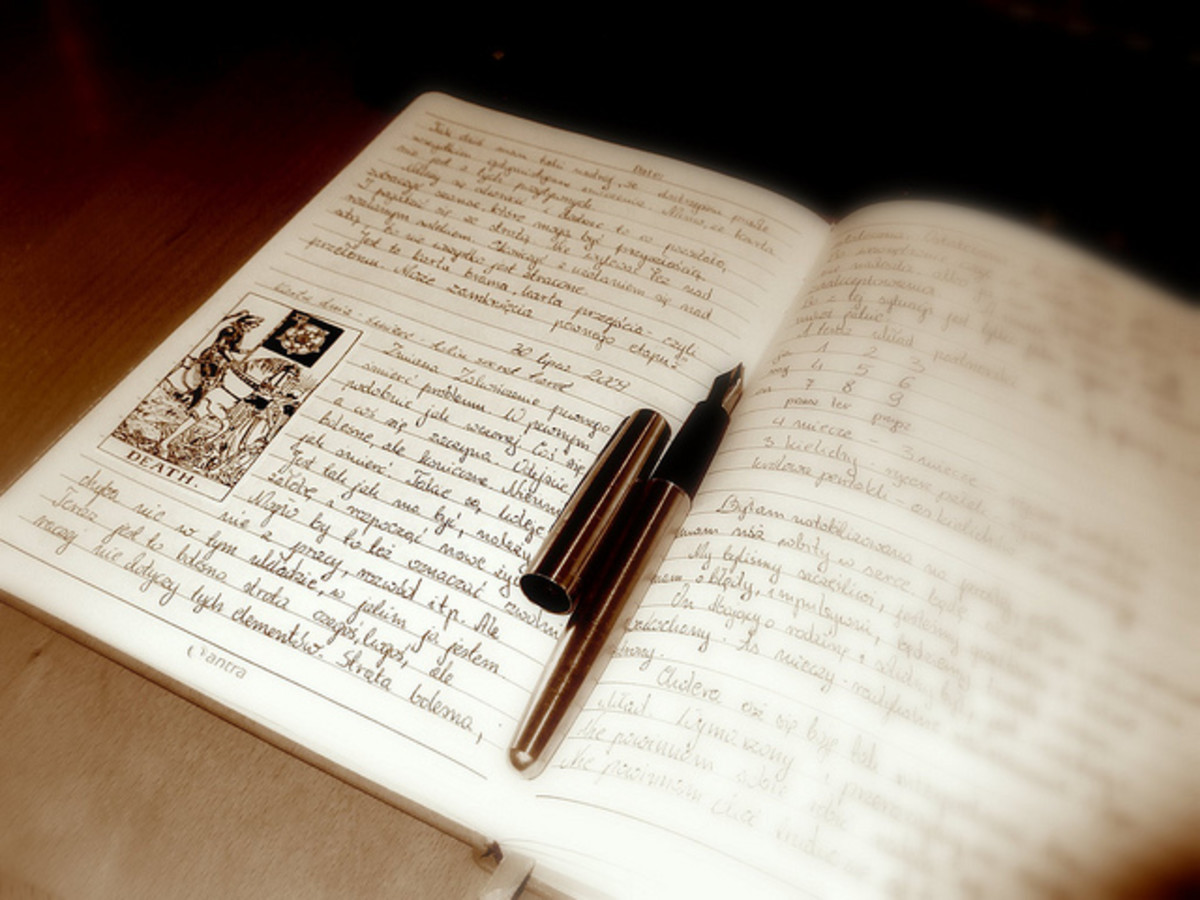 Keeping a tarot journal. Courtesy of Limeryk under the Creative Commons license