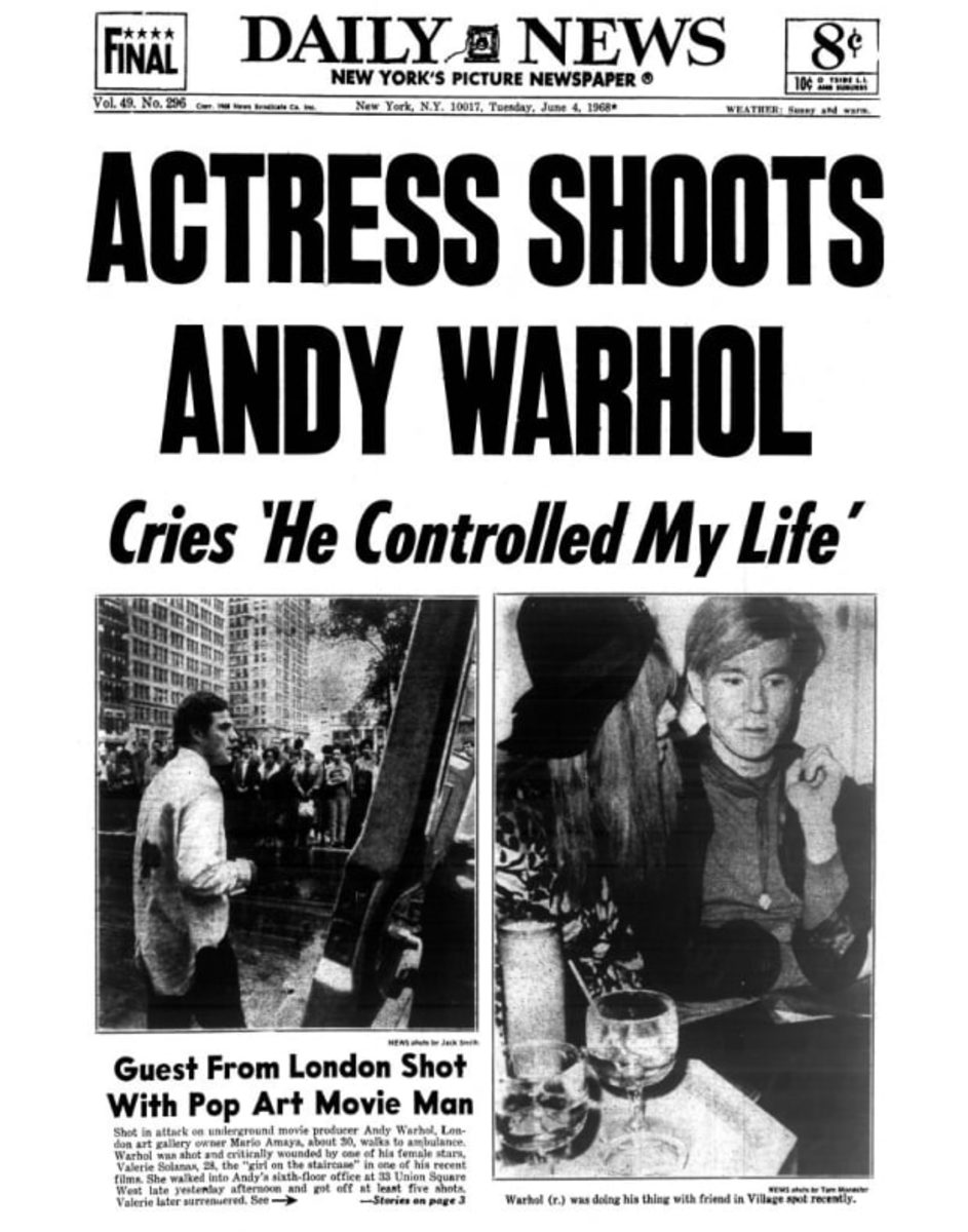 Valerie Solanas (birthday April 9) shot Andy Warhol because he wouldn't cast her in his movies.