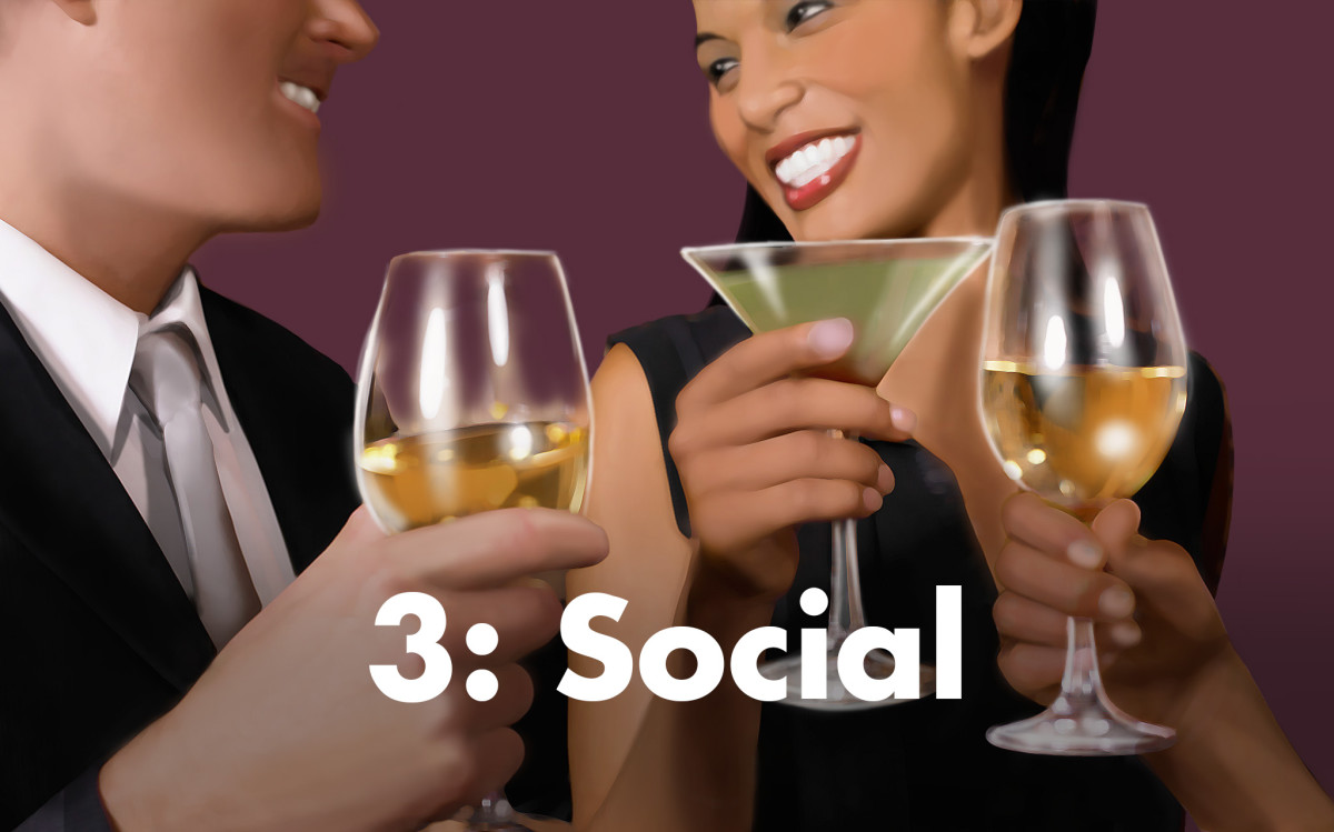 People associated with the number three tend to be more social.