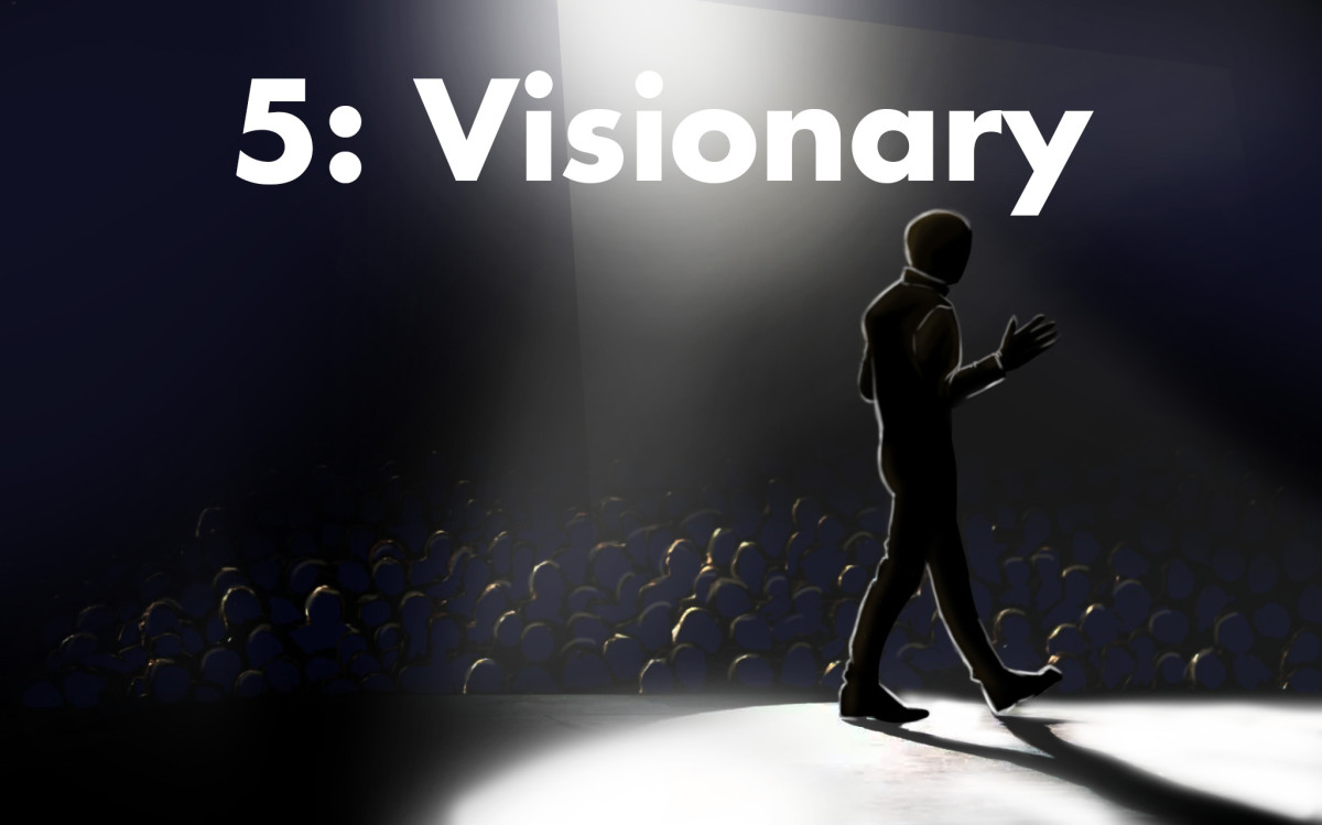The number five is associated with visionary natures.