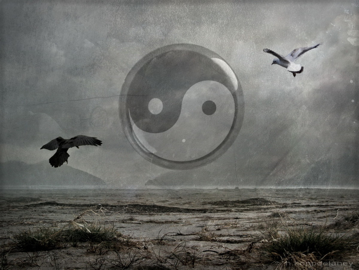 Yin and yang represent the concept and need to balance and duality within the world.