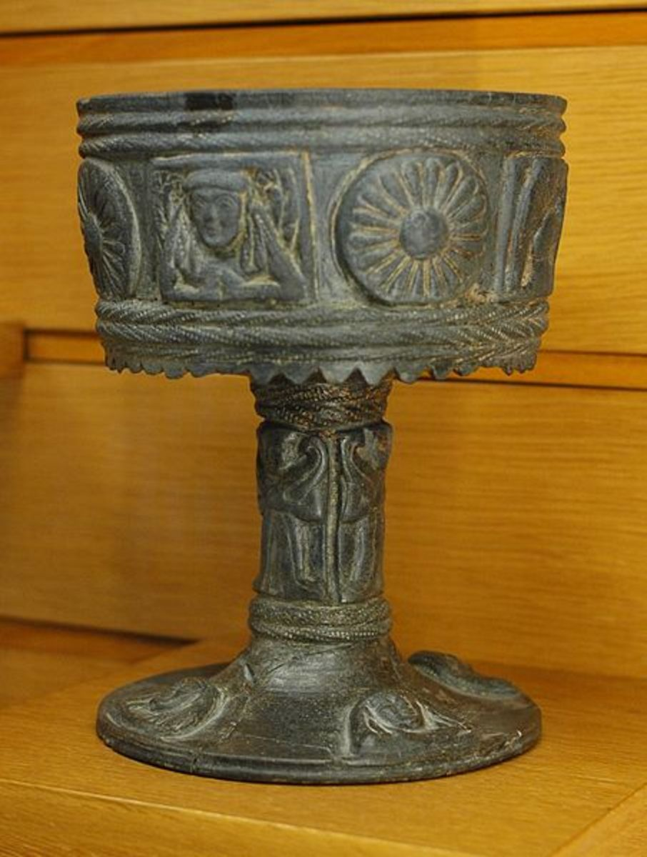 A stone chalice.