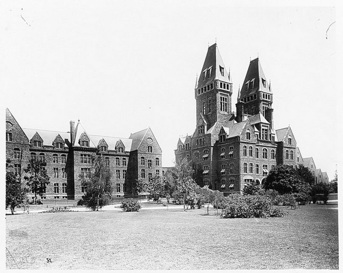 Then: Henry Hobson Richardson's 1870 Buffalo State Asylum in Buffalo, NY