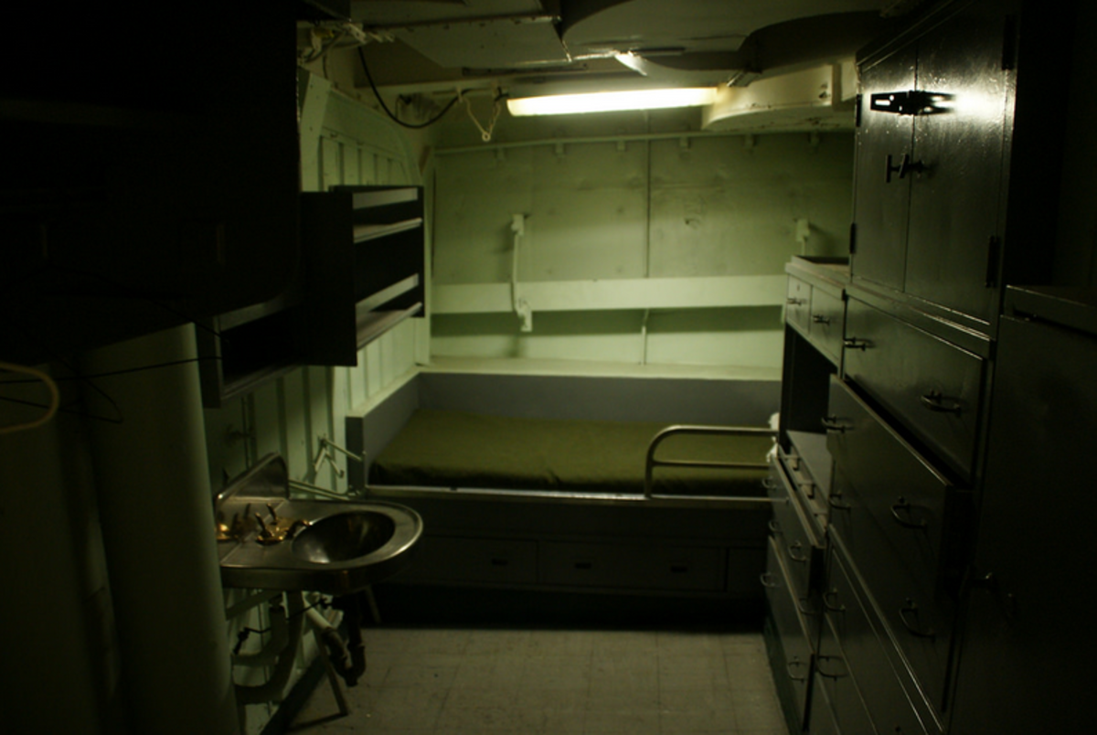Inside the ship's sleeping quarters. Tourists and crewmen alike strongly believe the ships are haunted.