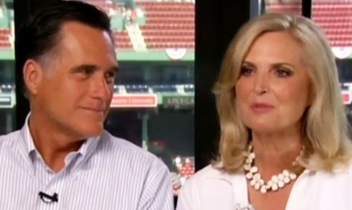 "Mitt and Ann Romney (he's doing ""the gaze."")"