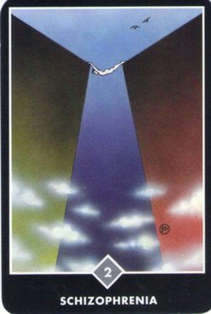 "Osho Zen ""Schizophrenia"" (Two of Swords)."