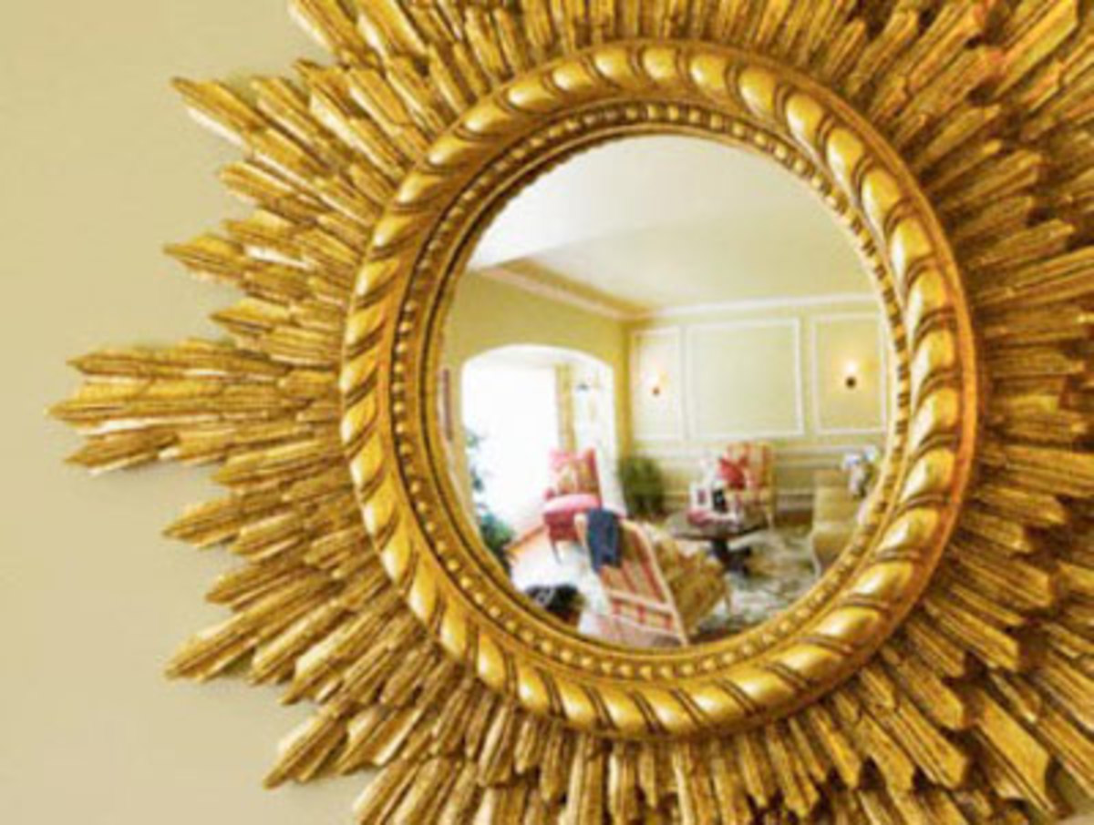 Very positive feng shui energy is generated with the placement of this mirror