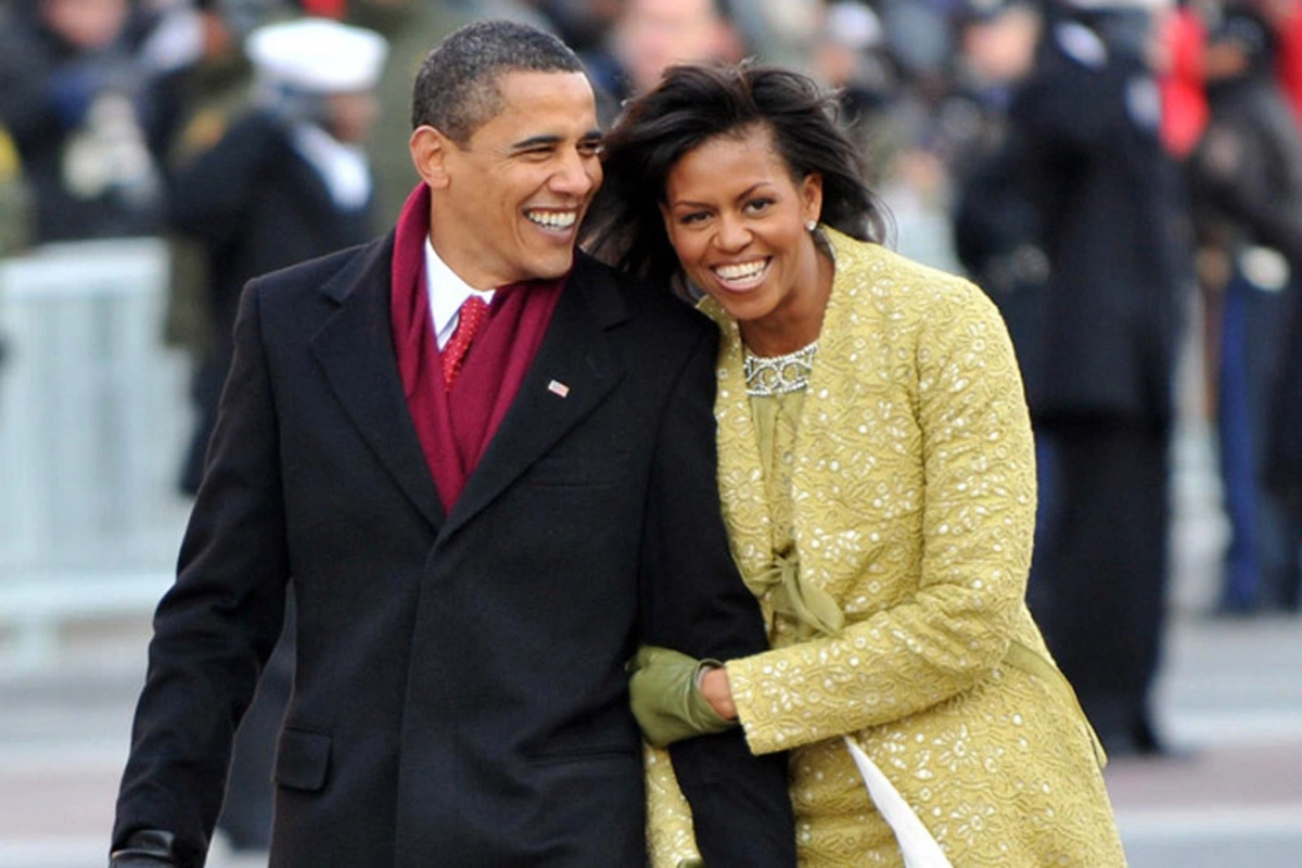 Barack and Michelle Obama on Inauguration Day, 2012.