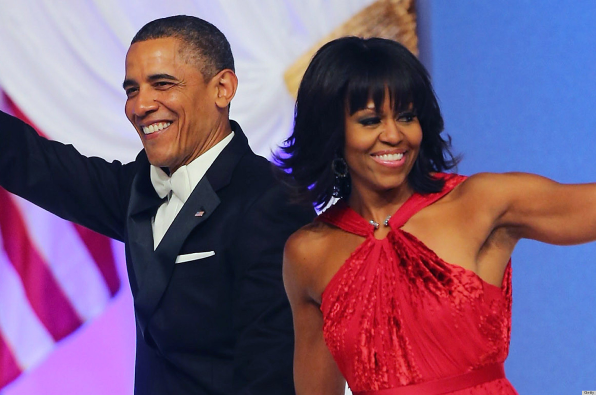 The Obamas at their second Presidential Inauguration Ball.