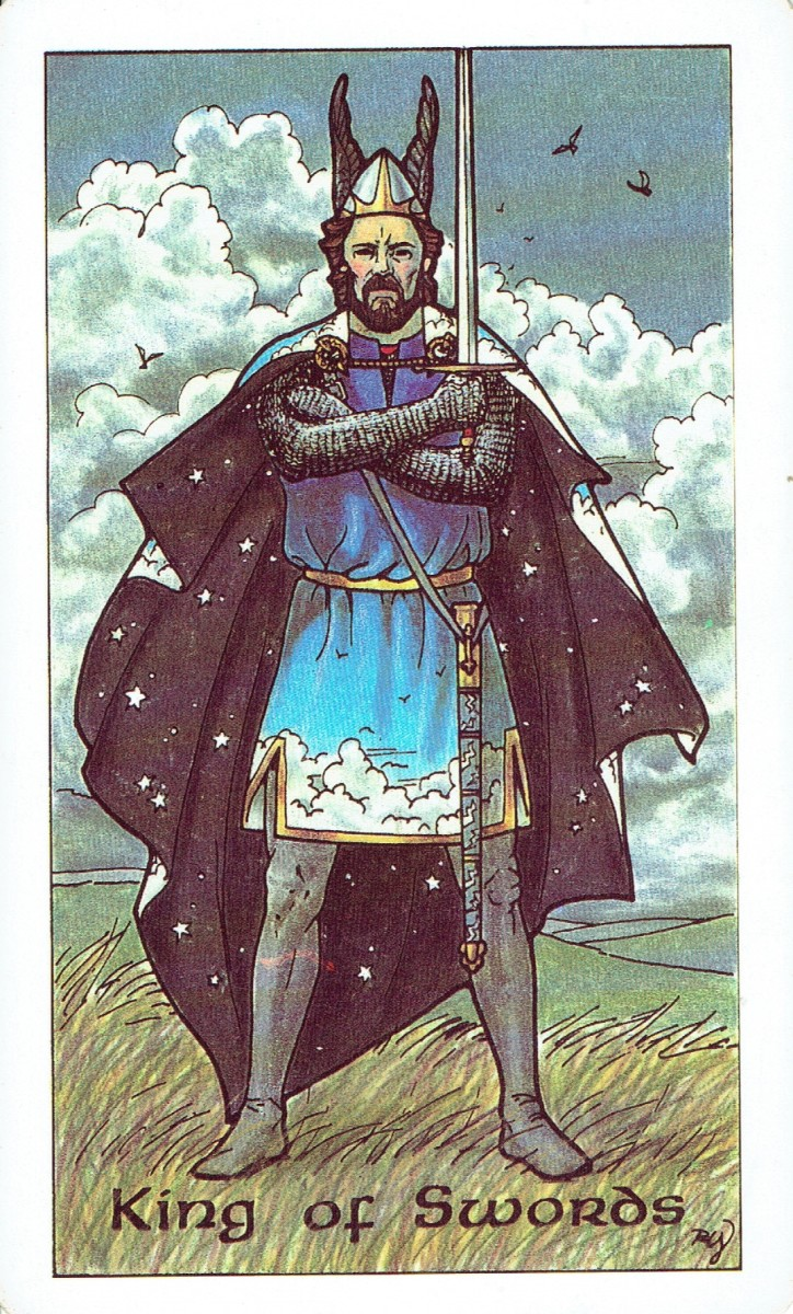 The King of Swords from the Robin Wood Tarot