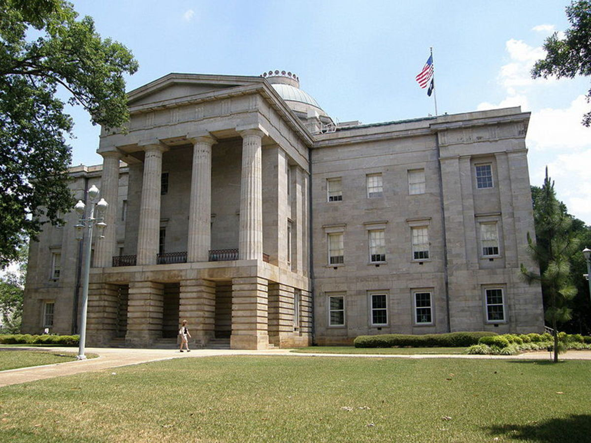 The haunted old state capitol building in Raleigh, North Carolina.