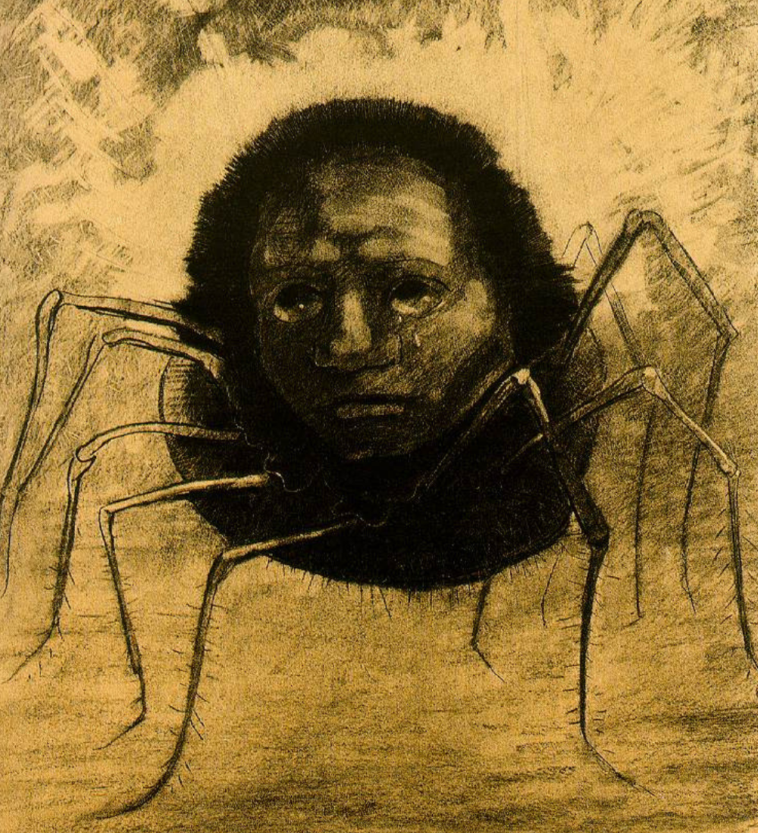 In order to interpret your spider dream, the first thing to do is determine what the spider represents to you. (l'Araignée qui Pleure: The Crying Spider.)