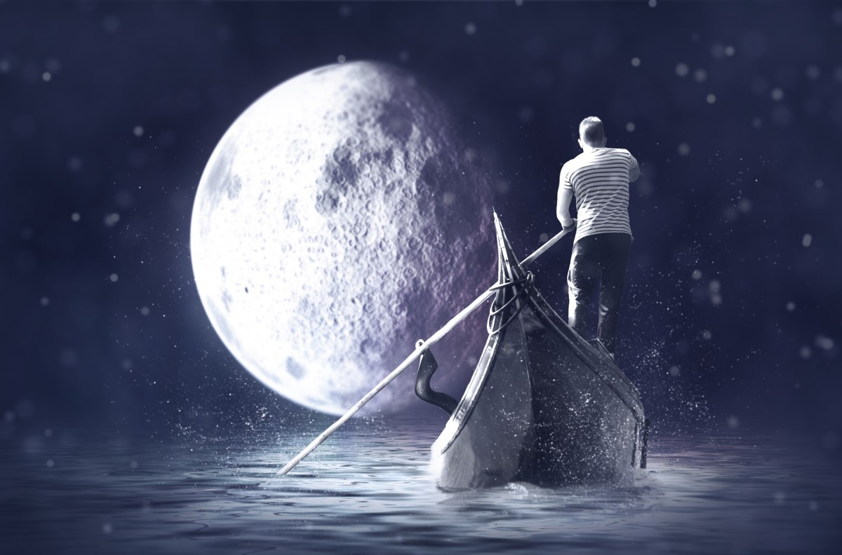 How close is the moon in your dream?