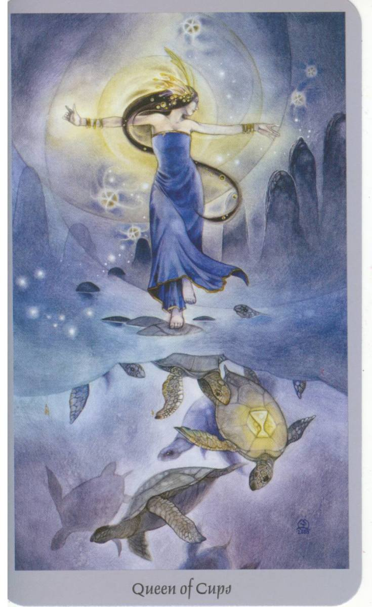 Queen of Cups from the Shadowscapes tarot.