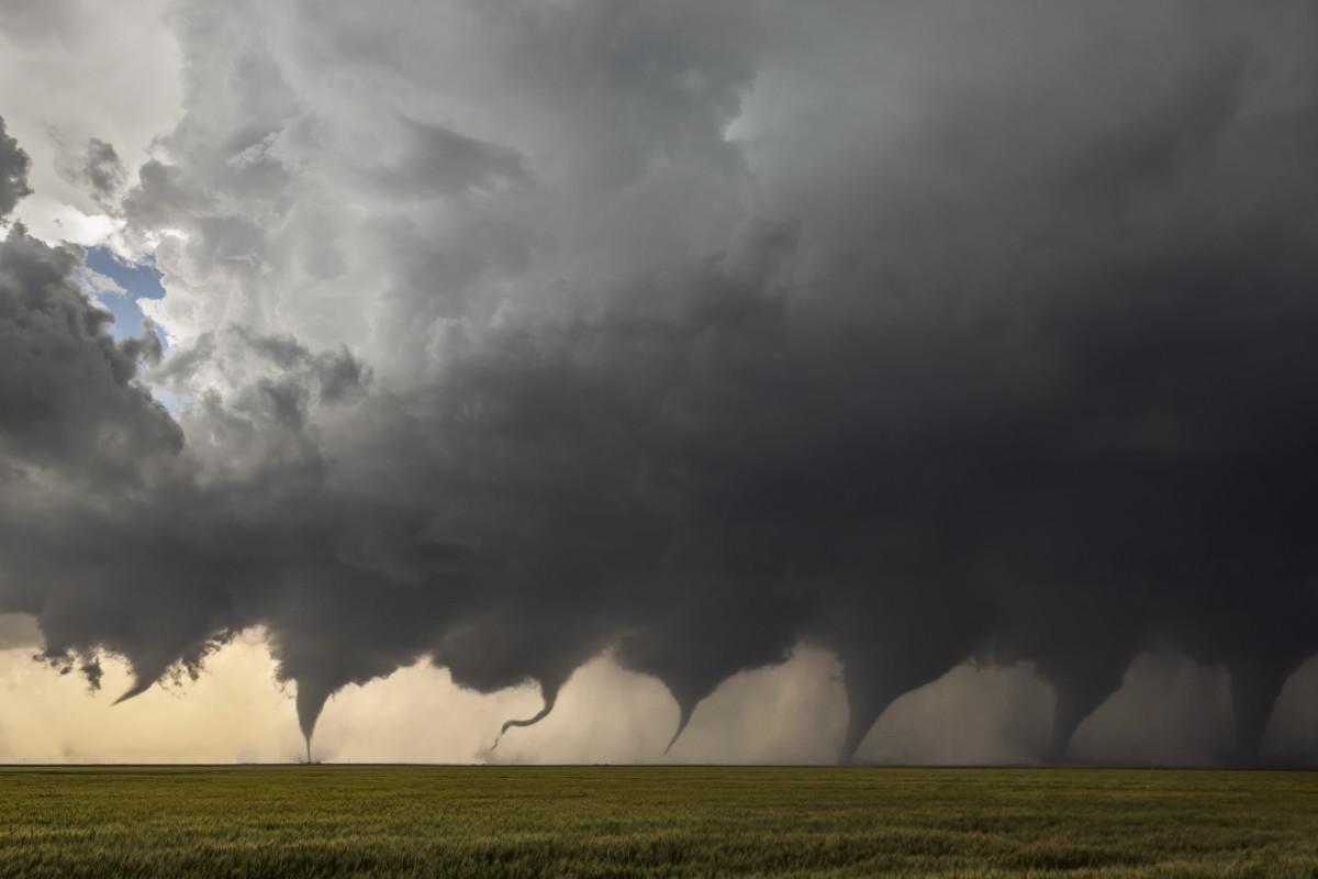 Evolution of a tornado.