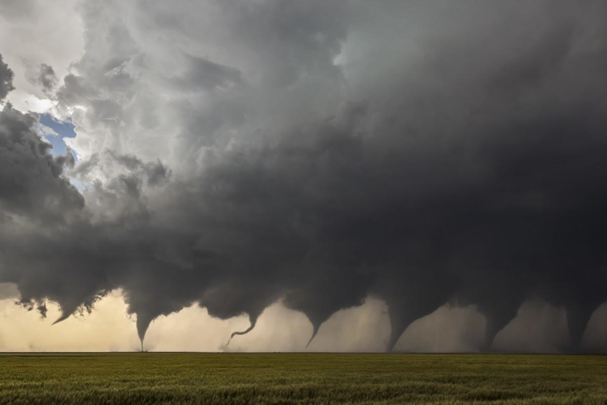Evolution of a Tornado