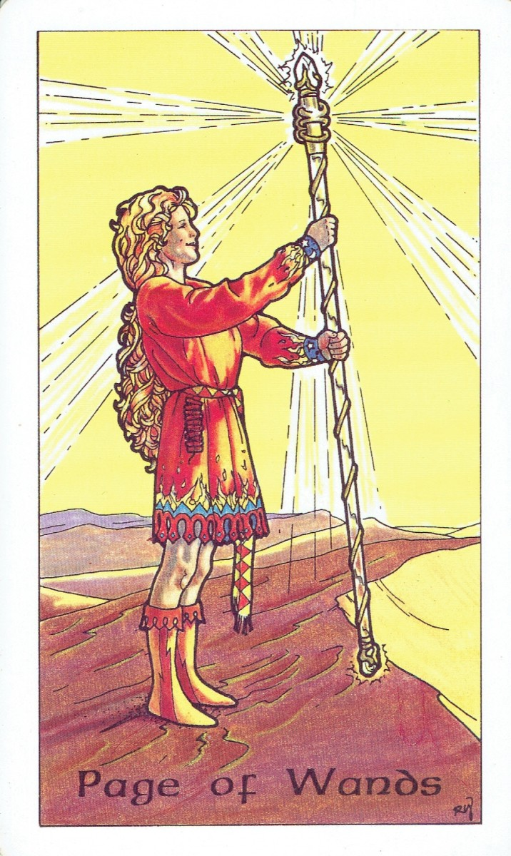 Page of Wands from the Robin Wood Tarot