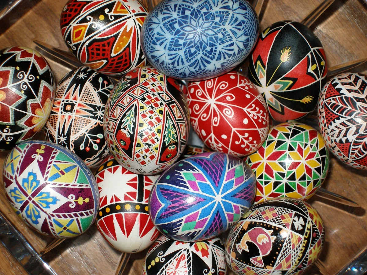 Ukrainian pysansky (Easter eggs).