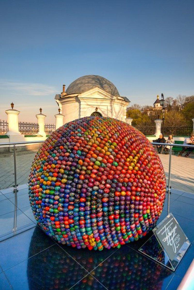 Kiev Easter Egg Sculpture