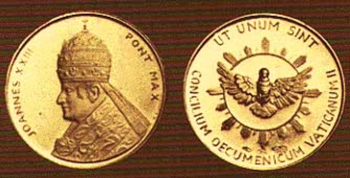 Papal coins that Adamski used to prove that he met with the Pope.