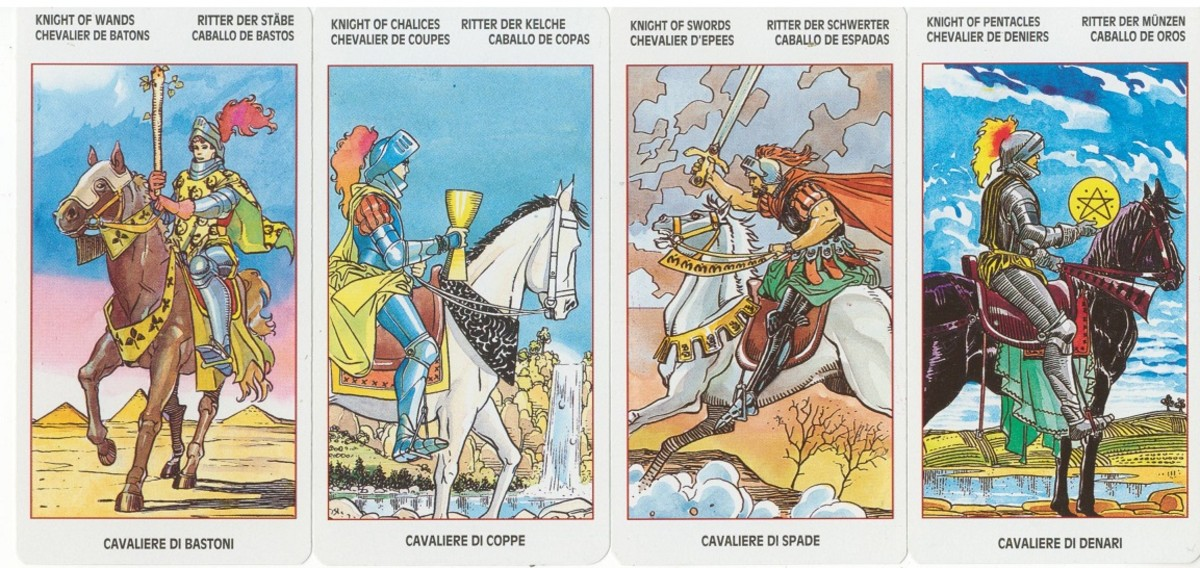 The Knights from Lo Scarabeo's Universal Tarot.