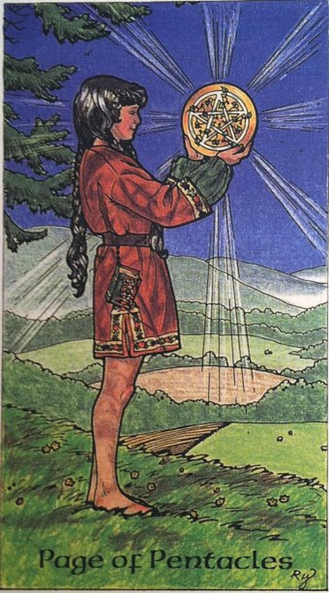 Robin Wood Page of Pentacles