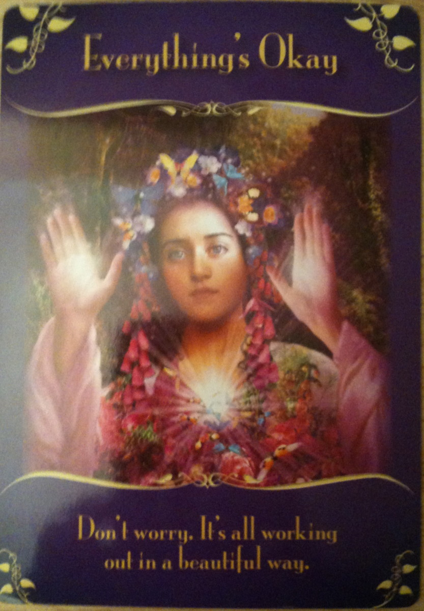 A card from the Doreen Virtue Magical Messages from the Fairies deck.