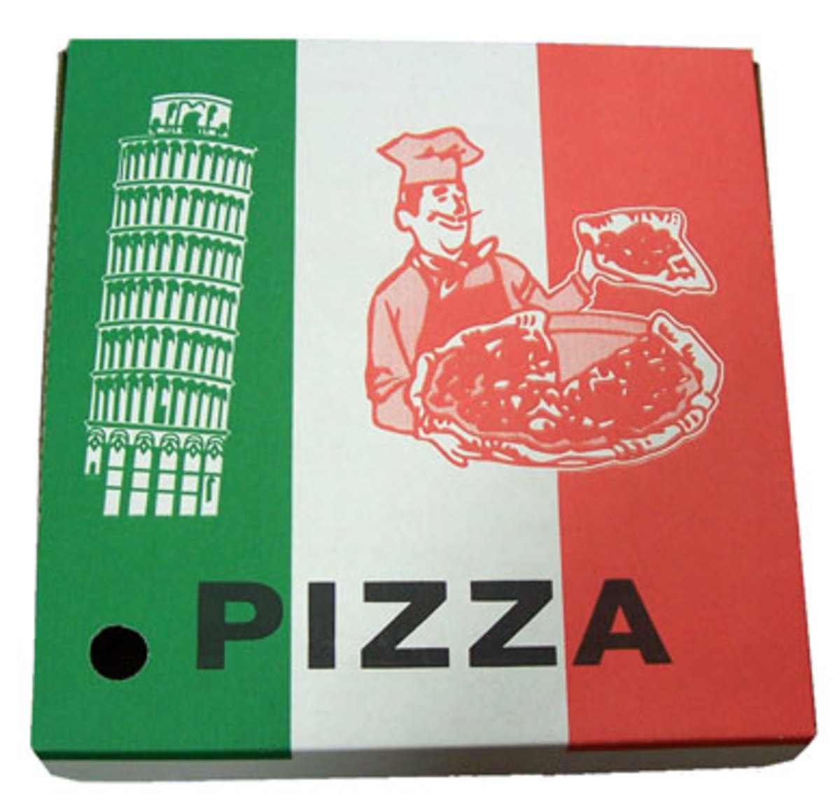 You can make your own box with a pizza box!