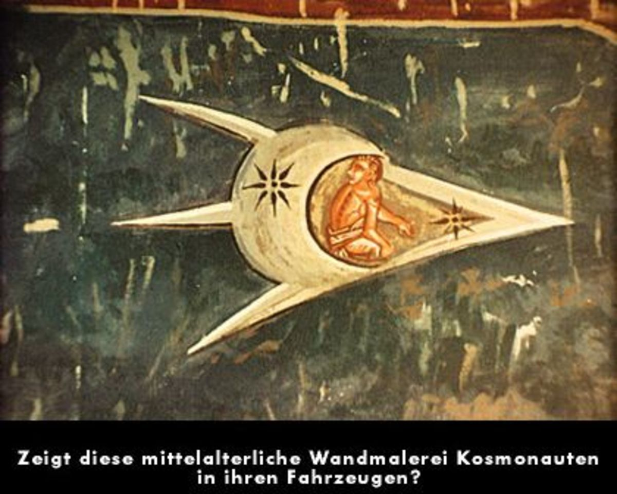 14th century fresco painting depicting...a space ship?