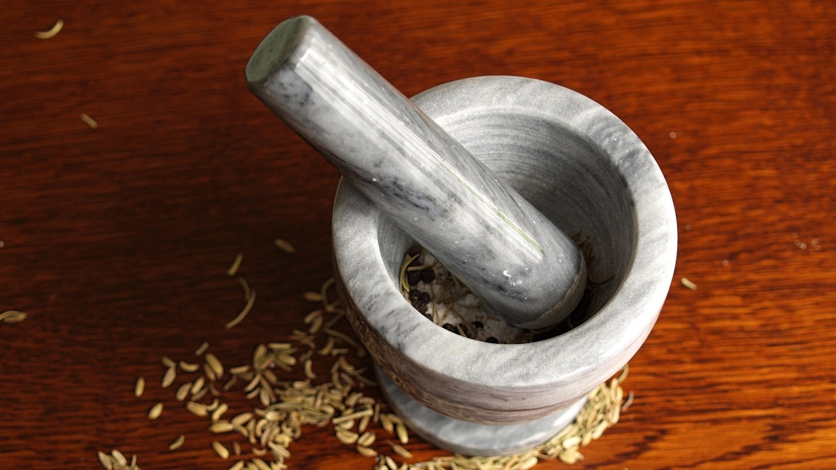 A mortar and pestle is an excellent tool for witchcraft.