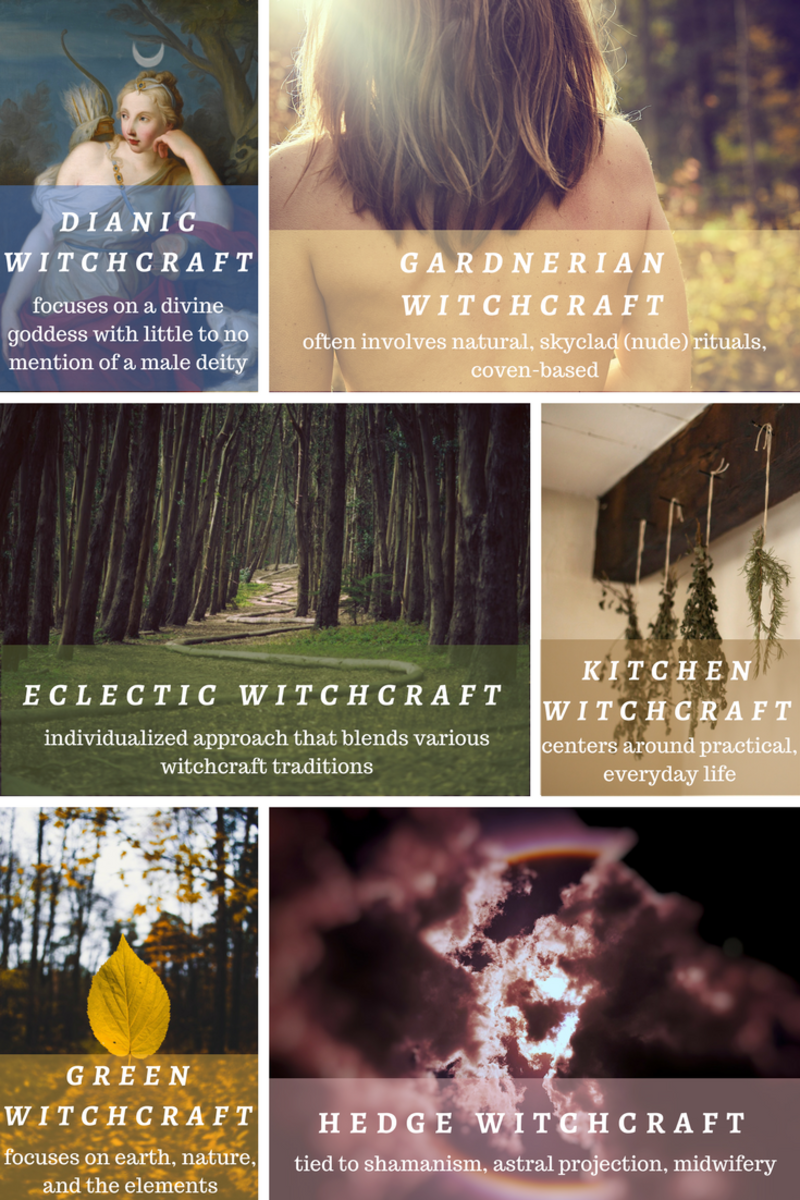 What are the different kinds of witchcraft?