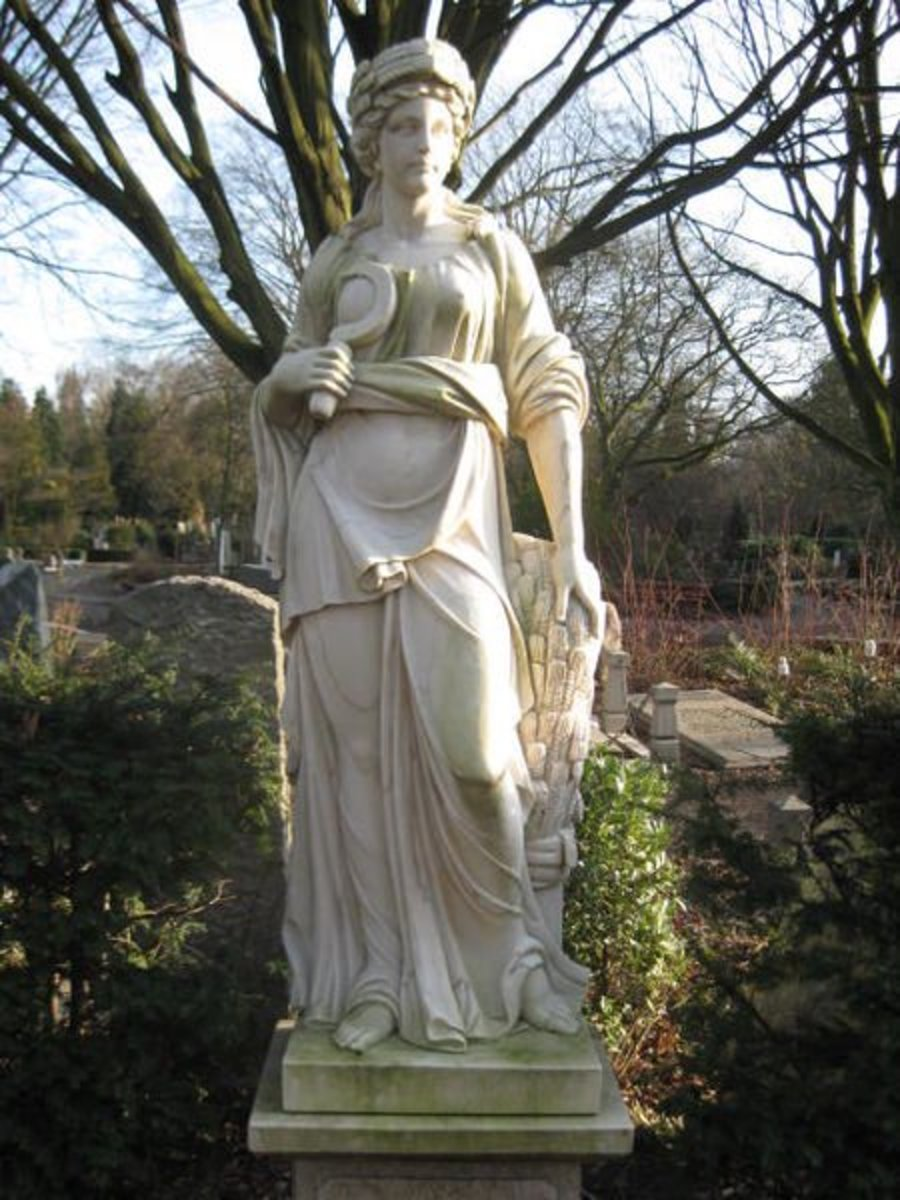 Demeter statue in Amsterdam