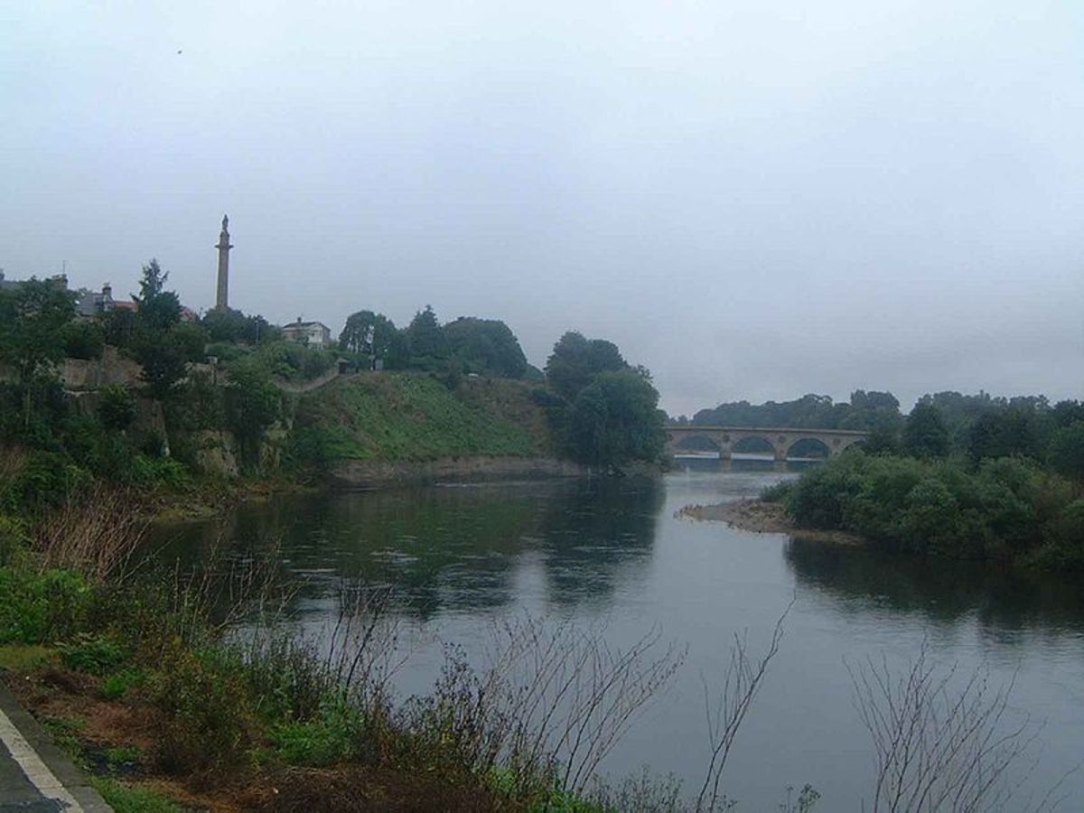 River Tweed in Scotland where the baby was found (seen here in 2004).