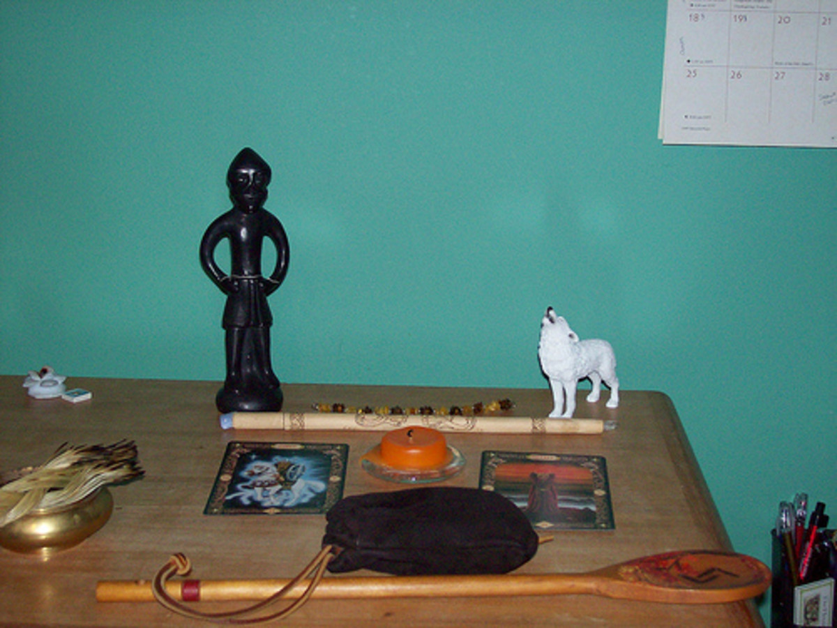 Household shrine to Odin.