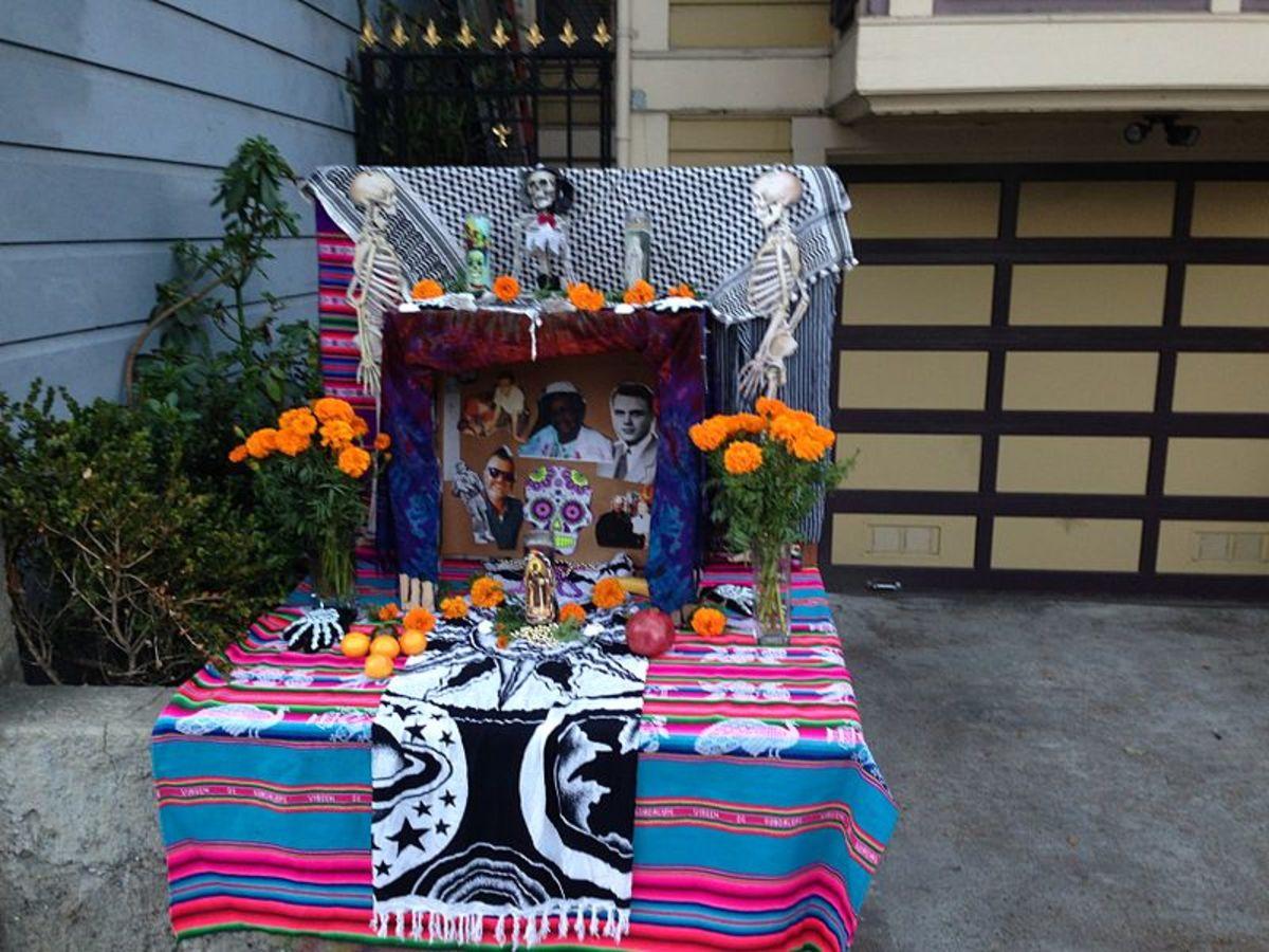 Dia De Los Muertos Shrine outside a mission in San Francisco