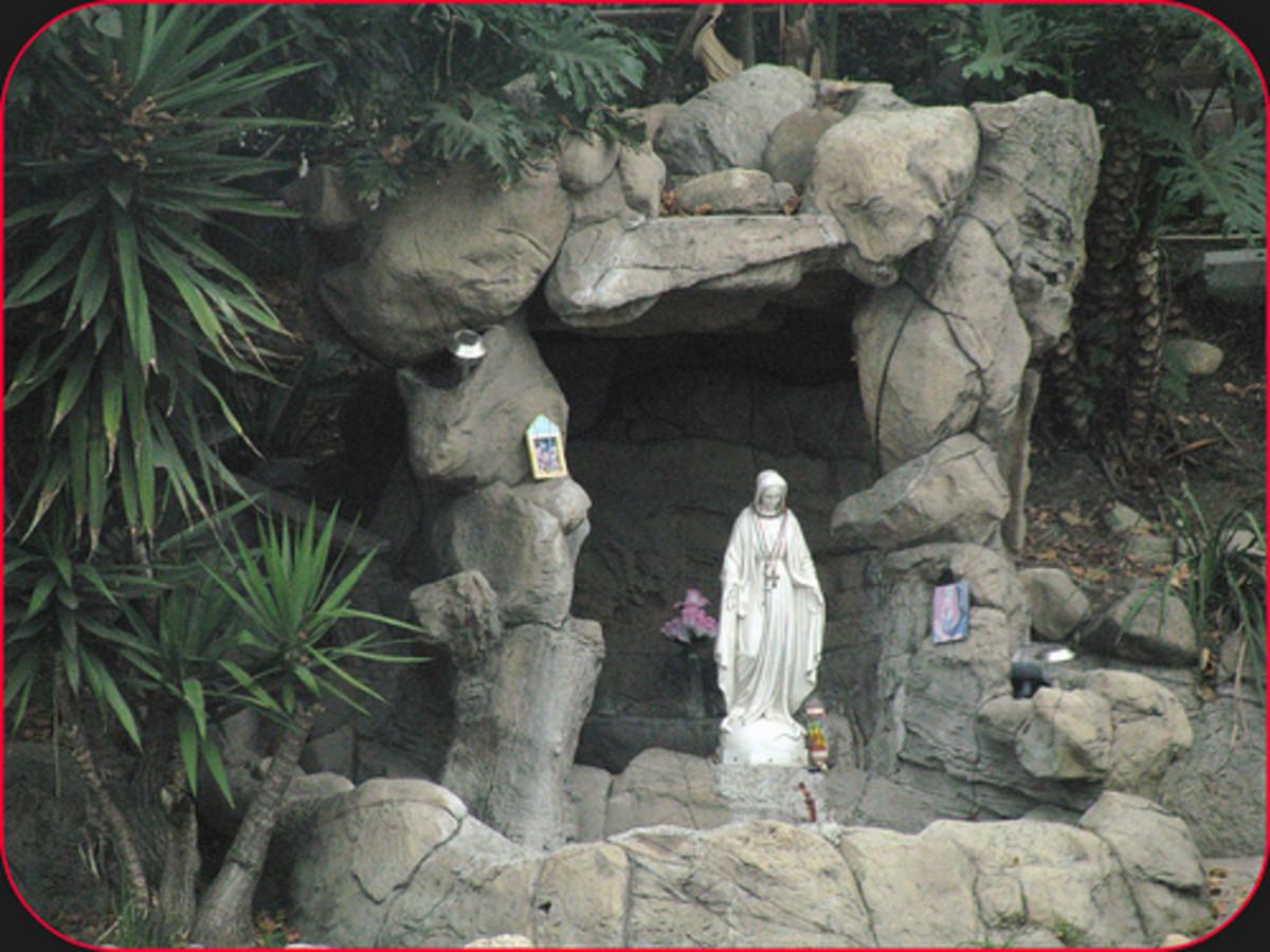 Shrine to the Virgin.