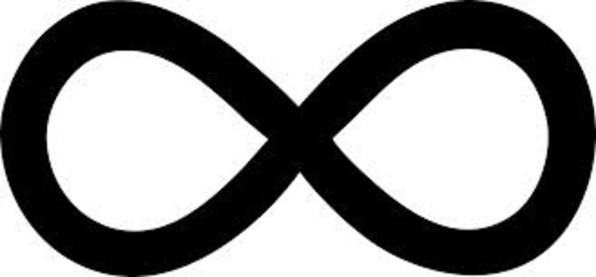 The infinity symbol.