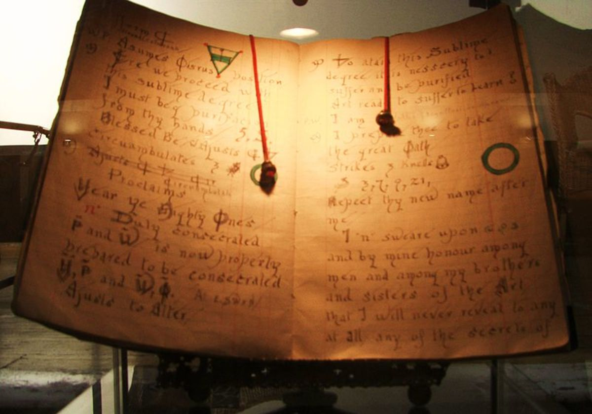 Gerald Gardner, Wicca's founder, created the first Book of Shadows.
