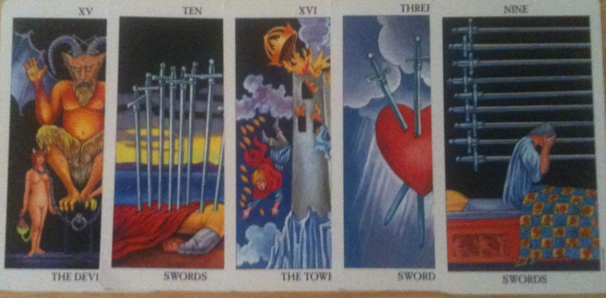 Five of the most dreaded cards in a Tarot deck