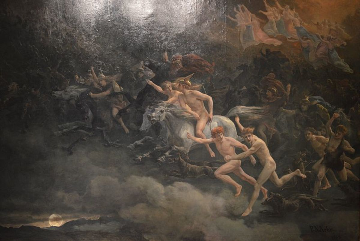 The Wild Hunt of Odin (Peter Nicolai Arbo/1868)