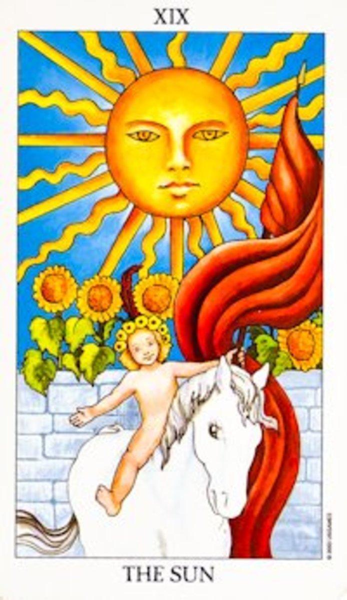 "The most common ""Sun"" Tarot card."