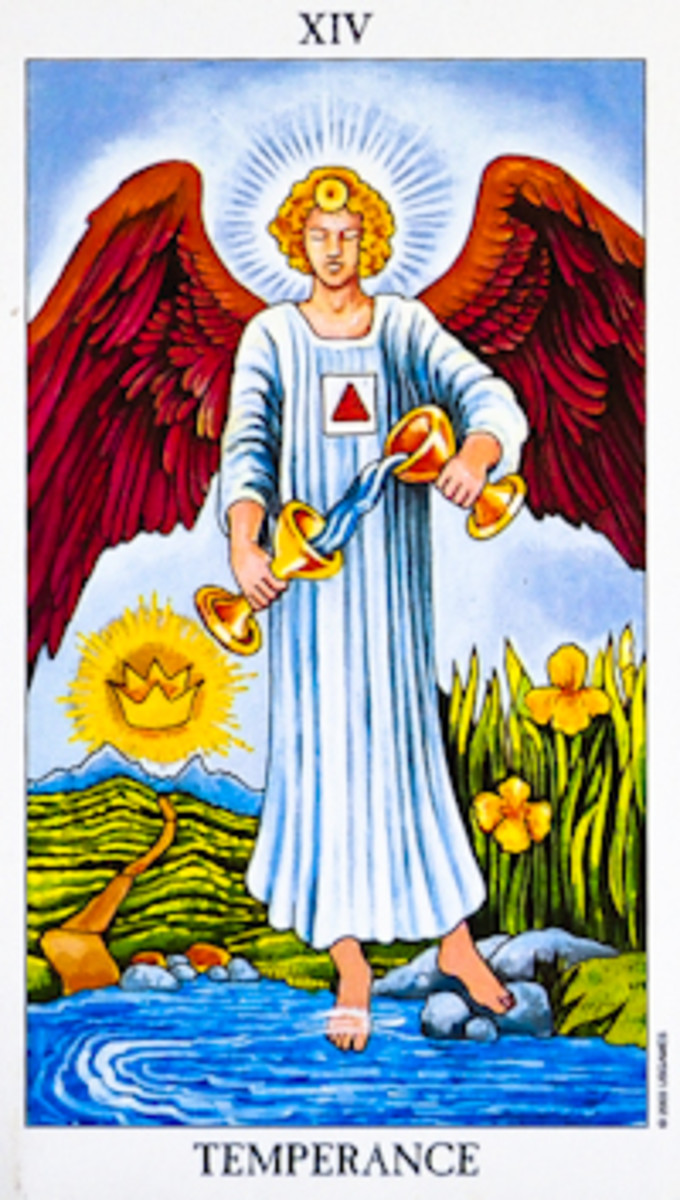 "The most common Tarot card for ""Temperance."""